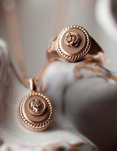 Mi moneda goud kleurige zegel ring By Botique-Fashion