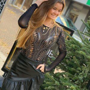 Pailletten Body Black by Botique-fashion