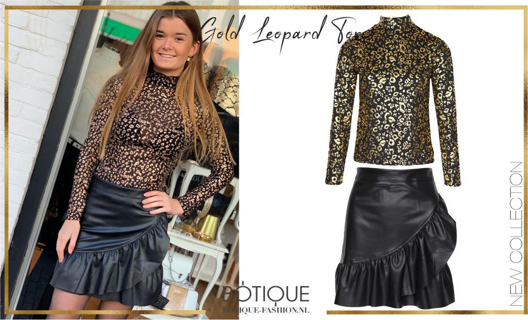 Gold Leopard Top By Botique-Fashion