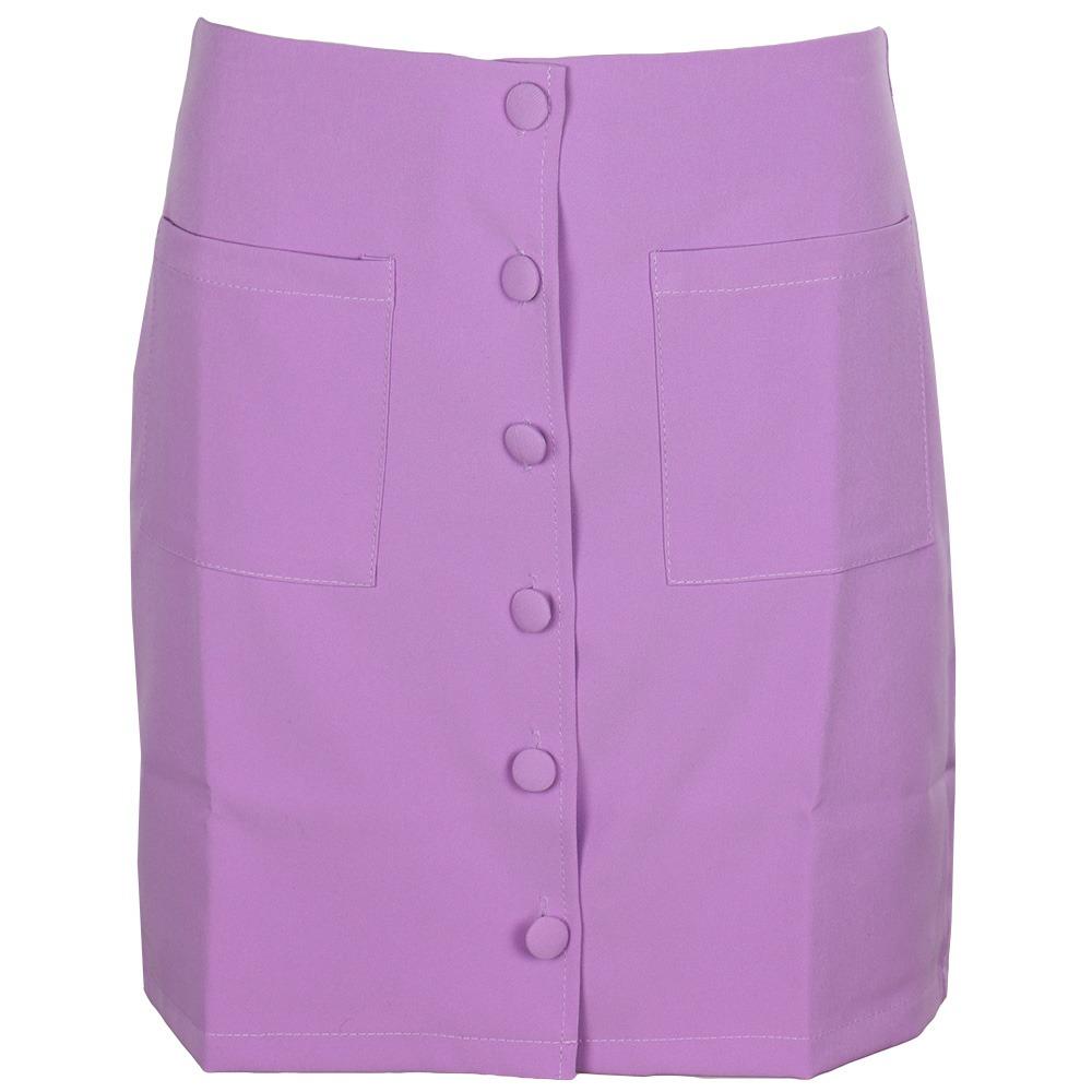 Violet Skirt Button By Botique-Fashion