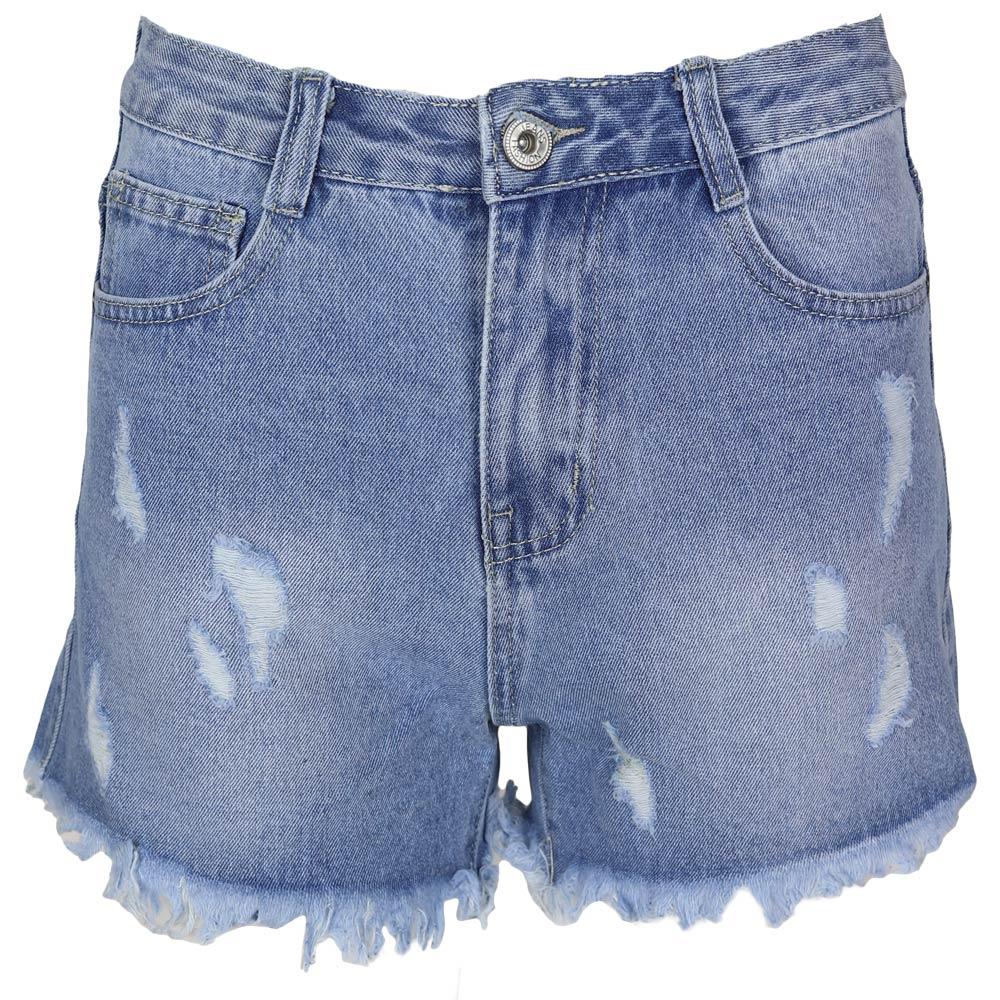 Short Boyfriend Jeans Blue By Botique-Fashion