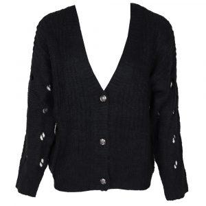 Ciminy Soft Button Vest Black By Botique-Fashion