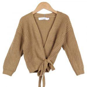 Ambika Kids Wrap Vest Camel By Botique-Fashion