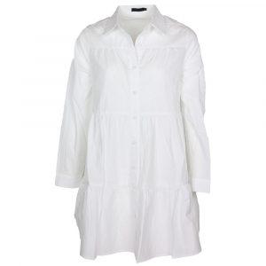 Drole De Copine Boho Blouse Dress White By Botique-Fashion