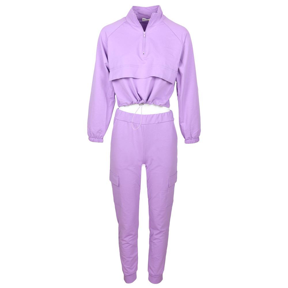 Giorgia 2-Piece Sporty Suit Lila By Botique-Fashion