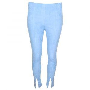 Copperose Suede Split Legging Blue By Botique Fashion