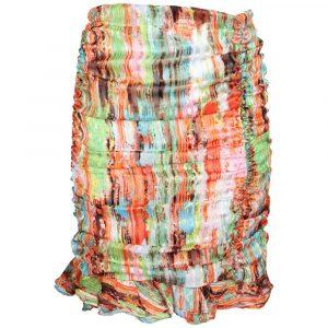 jubylee lurex ruched skirt orange by botique fashion