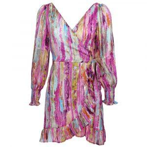 jubylee lurex wrap dress purple by botique fashion