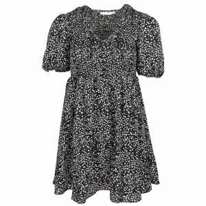 giorgia cheetah dress black white by botique