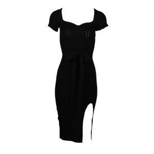 giorgia classy rib dress black