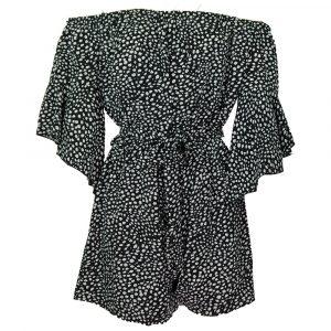 luc ce cheetah jumpsuit black