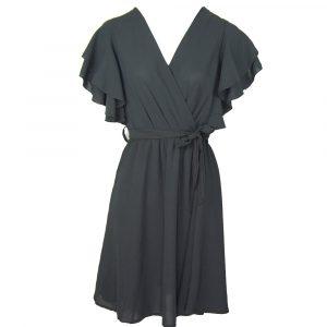 perfect black ruffle dress