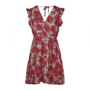 vintage dressing flower dress fushia white