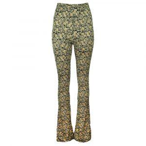 ambika elin soft coffee flower flared pants