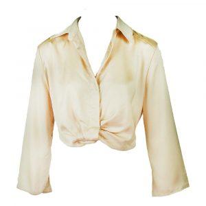 capsule satin look blouse beige