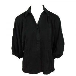just dai silk blouse black