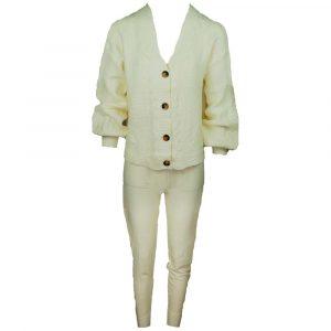 azara paris comfy two piece soft beige