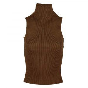 may by shiningstars sleeveless col brown