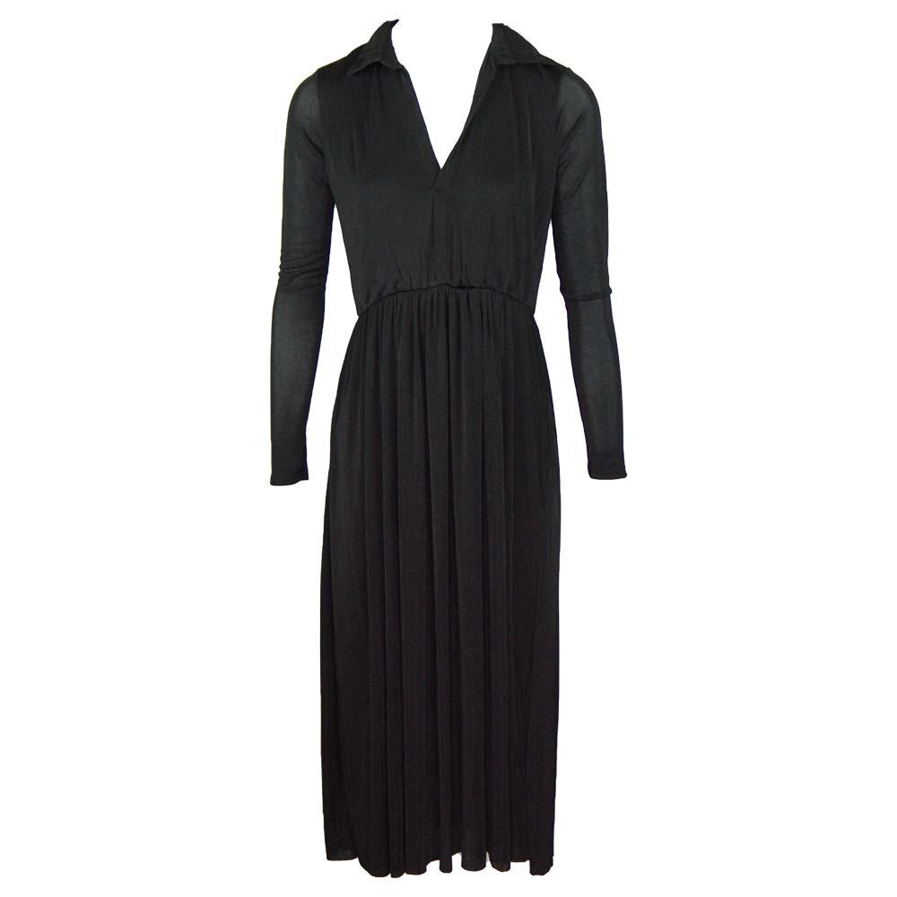 retro & icone maxi dress black