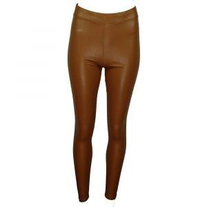 drole de copine leatherlook pants taupe