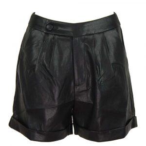 drole de copine leatherlook short black